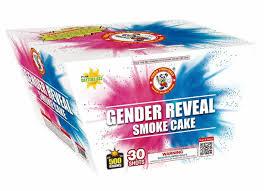 Gender Reveal Smoke Cake